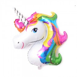 Birthday party mini unicorn foil balloon