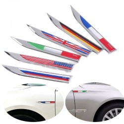 Germany Italy England France US Swedish Canada flag metal car sticker