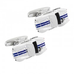 3D racing car model cufflinks