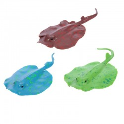 Aquarium decoration - silicone luminous stingray with a suction cup