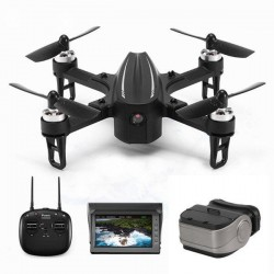 Eachine EX2mini Brushless 5.8G FPV - RC Drone Quadcopter RTF - With Camera + FPV Monitor + Glasses - Mode 2 (Left Hand Throttle)