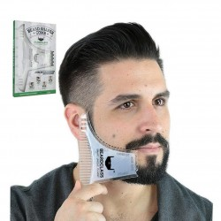 Beard shaping - beard-styling template with comb