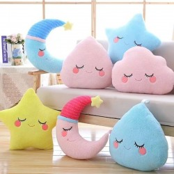 Star & cloud - soft pillow - plush toy
