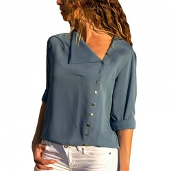 Elegant chiffon blouse with long sleeves