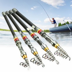 Telescopic carbon fiber fishing rod - 1.8m - 3.0m