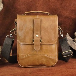 Crossbody & shoulder leather bag