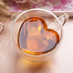 Heart shaped - double walled coffee & tea mug