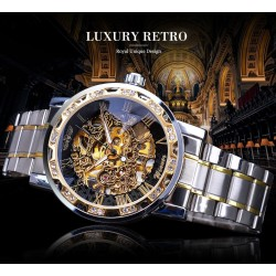 Luxury transparent see-through - luminous display - mechanical watch - automatic