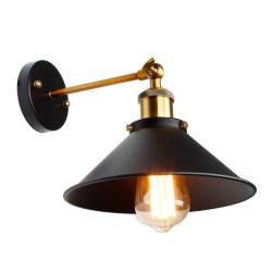Vintage wall lamp - iron lamp shade - E27
