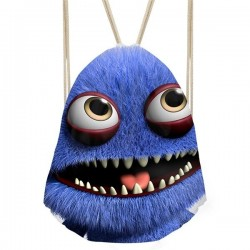 3D smiley monster - backpack with drawstrings