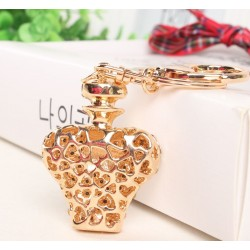 Gold crystal perfume bottle - keychain