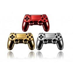 Playstation 4 Controller PS4 Gold - Red - Chrome Shell Case*