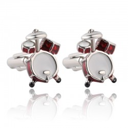 Music drum - cufflinks